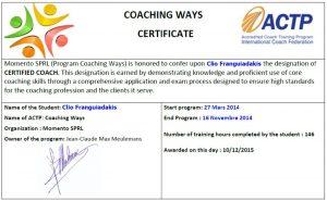Clio Franguiadakis coach certifiée par Coaching Ways