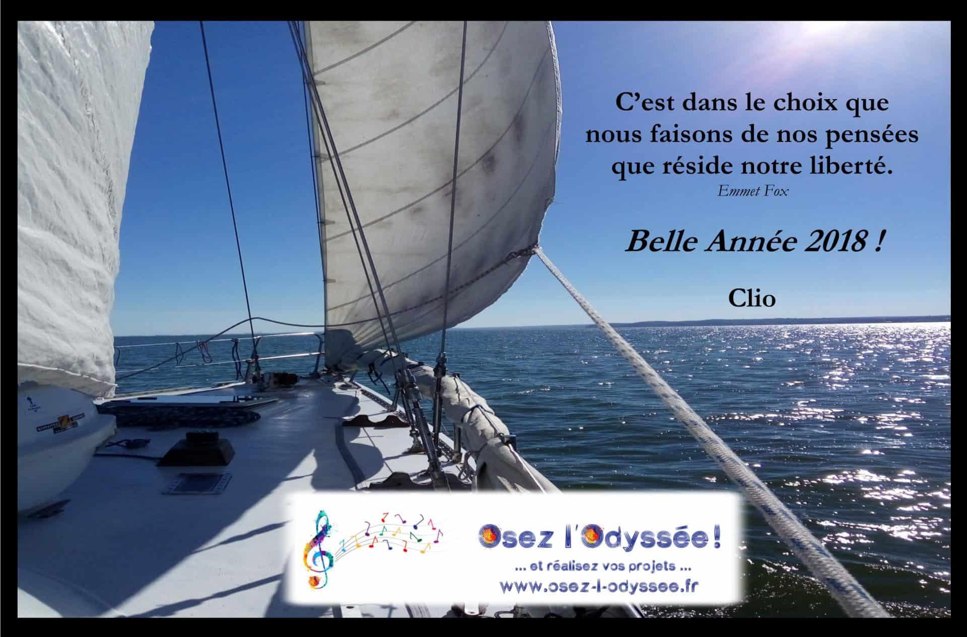 2018 vœux Osez l'Odyssee Clio Franguiadakis
