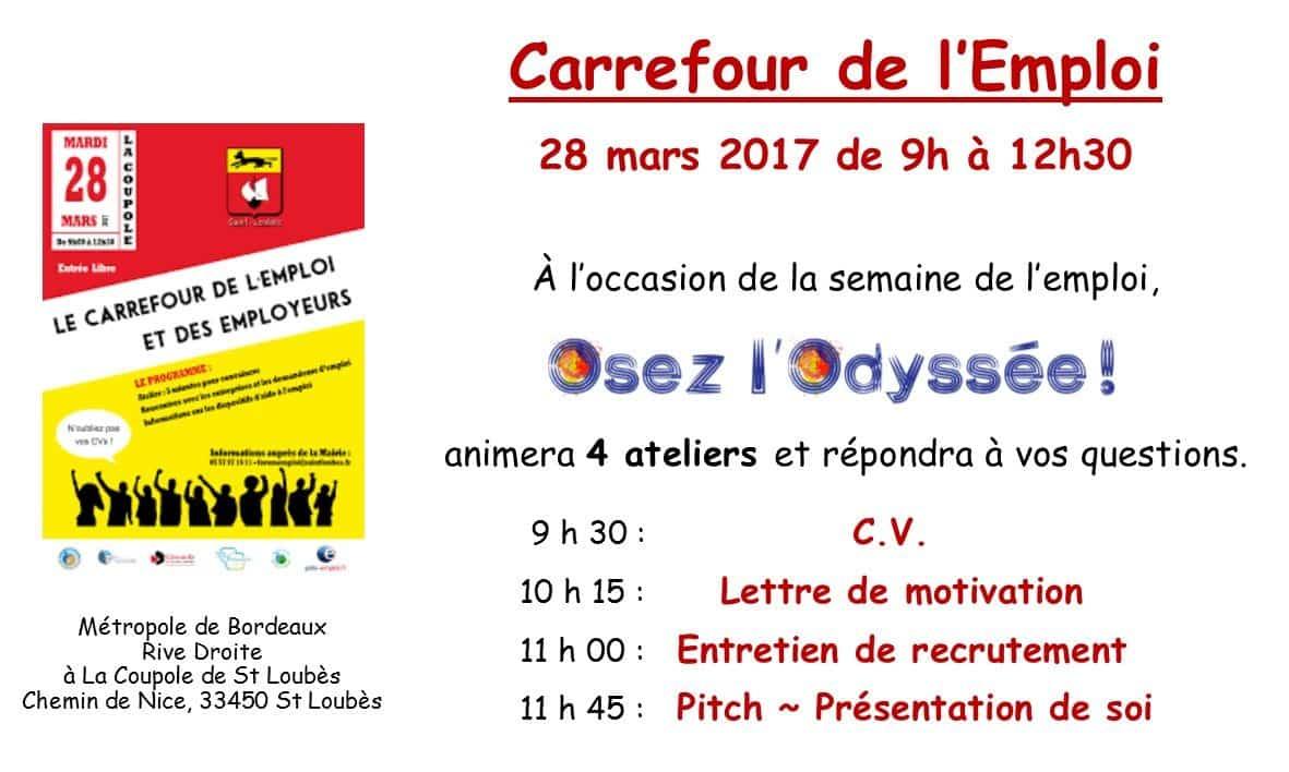 Carrefour de l'Emploi 28 mars 2017 Osez l'Odyssee