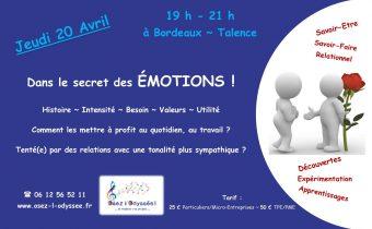 Atelier Coaching à Bordeaux 2017 AVRIL Osez l'Odyssee Emotions