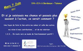 Atelier Coaching à Bordeaux 2017 Osez l'Odyssee Chance et Valeur