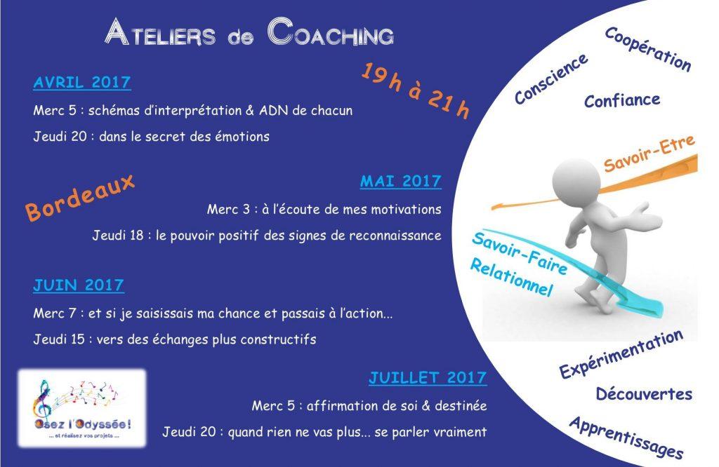 2017 sem1 Ateliers Coaching à Bordeaux Osez l'Odyssée