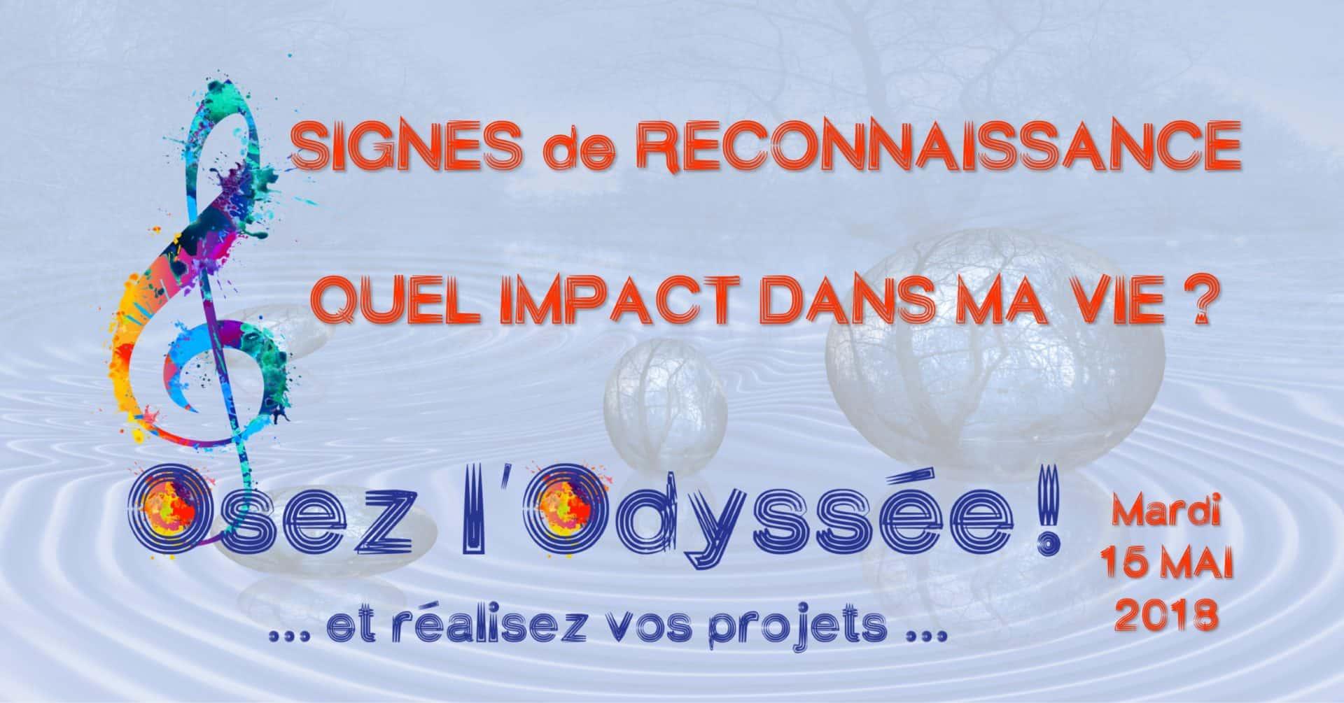 Signes de reconnaissance mai 2018 Coaching Osez l'Odyssée