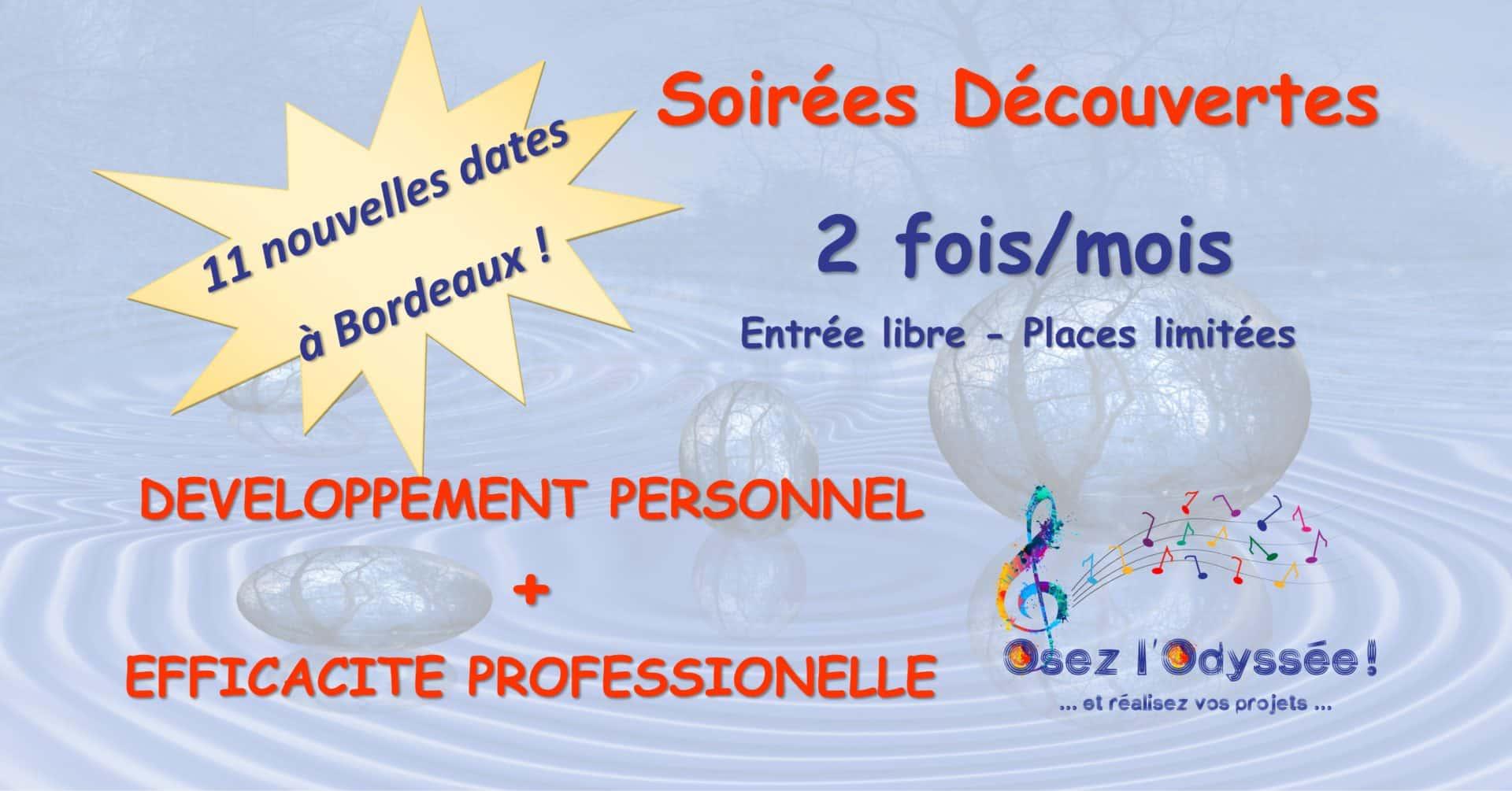 Soirées Développement Perso Pro à Bordeaux 2018 Coaching Osez l'Odyssée