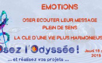 Émotions - Soirée coaching de vie à Bordeaux Osez l'Odyssée 2018