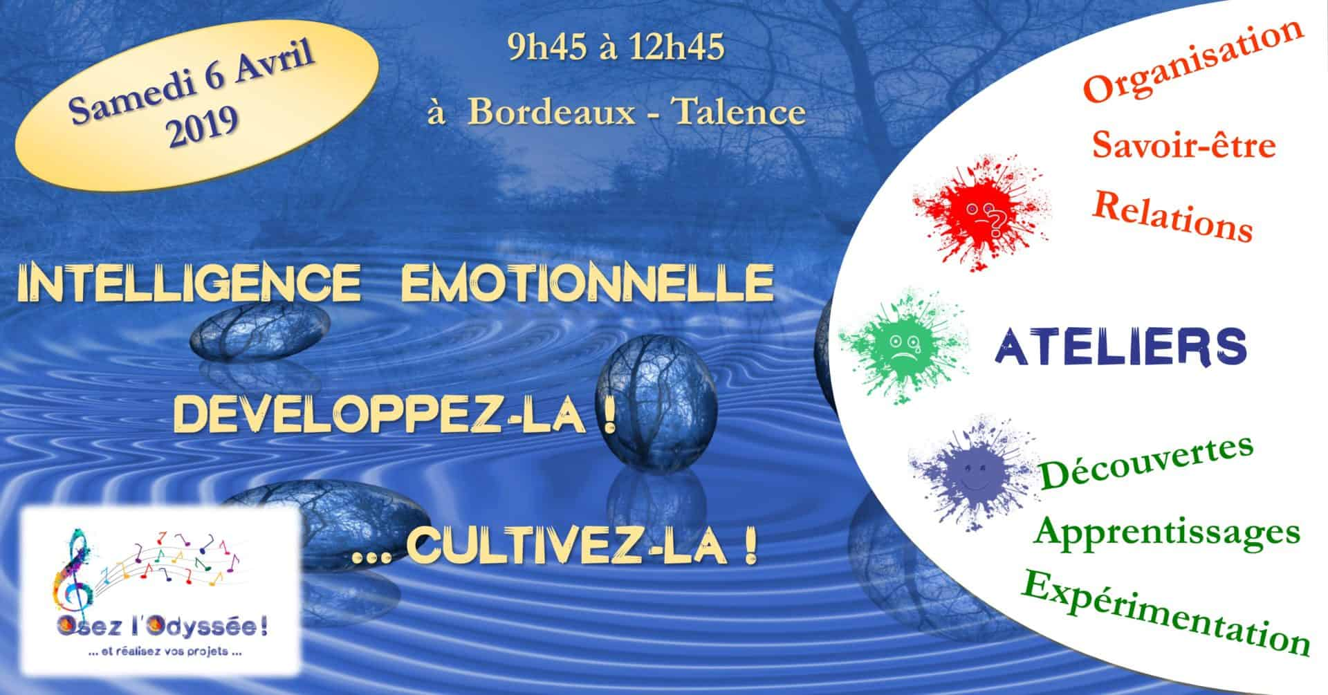 Intelligence émotionnelle Osez l'Odyssée 2019 03 Atelier Développement personnel à Bordeaux